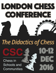 Konferencja The Didactics of Chess, Londyn 10-12 grudnia 2016